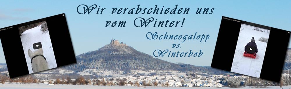Wir verabschieden uns vom Winter!