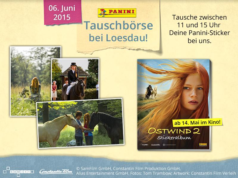Kommt zur großen Panini-Tauschbörse in euer Pferdesporthaus Loesdau.