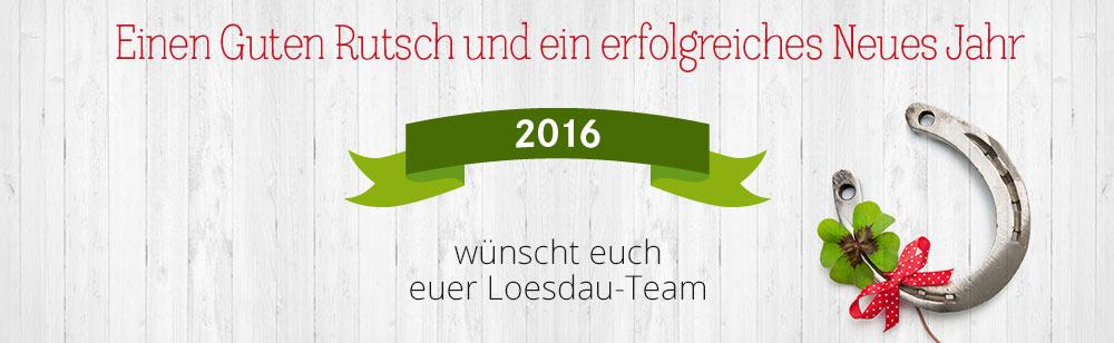 Loesdau Sylvestergruß und einen guten Start in 2016!