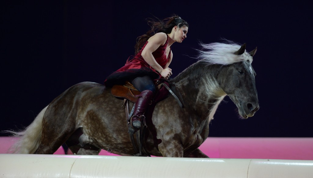 """Atemberaubende Szenen von Pferden und Menschen werden in der Galashow """"Im Takt der Pferde"""" zu bestaunen sein. Foto: Messe Friedrichshafen"""