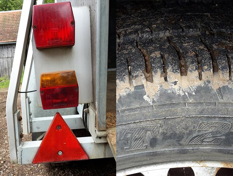 Lichter und Reifentest