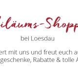 Jubiläums-Shopping mit verkaufsoffenen Sonntagen bei Loesdau