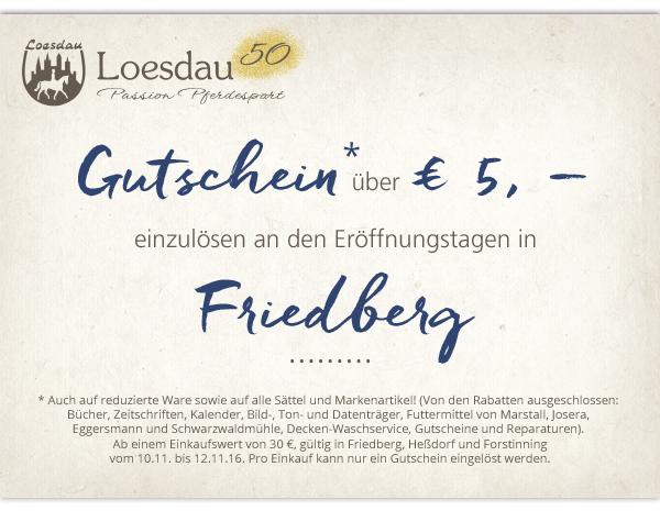Hier euer Gutschein* für die Eröffnungstage in Friedberg. Zeigt diesen an der Kasse ausgedruckt oder auf eurem Smartphone vor und schon wird er eingelöst.