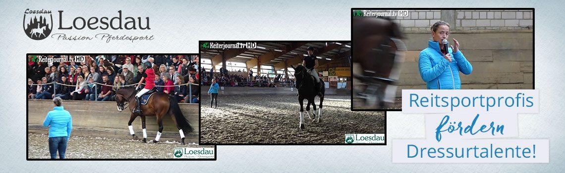 Loesdau unterstützt mit einheitlichen Reiterwesten und Schabracken den Trainingsabend mit IsabellWerth