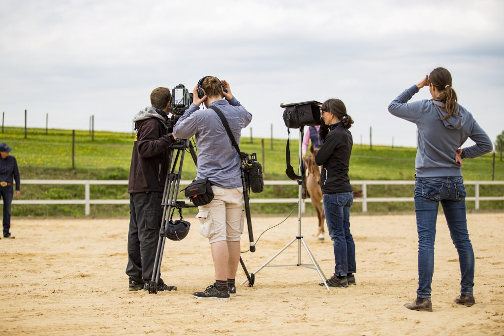 Kamerateam am Set