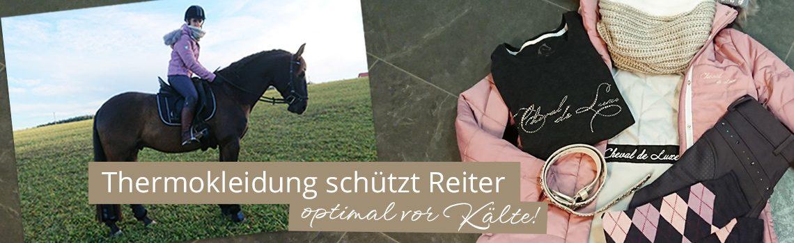 Thermokleidung schützt Reiter optimal vor Kälte!