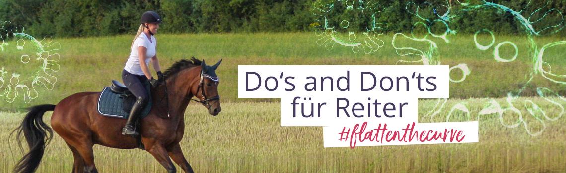 #flattenthecurve: Dos and Don'ts für Reiter