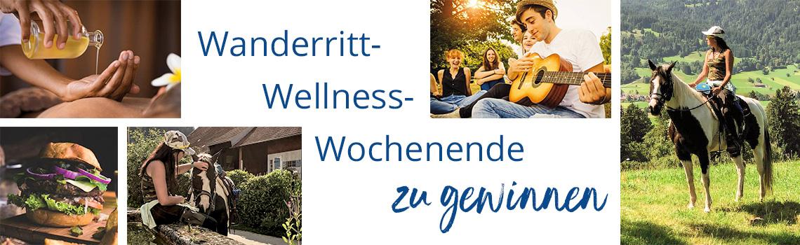 Gewinnspiel Wanderritt & Wellness für DICH